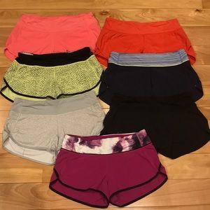 7 Lululemon Speed It Up Shorts, 2.5in inseam